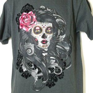 Karani Art Skeleton Girl T-Shirt Day of the Dead